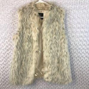Rachel Zoe Faux Fur Vest EUC